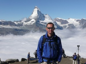Lecky in front of the Matterhorn in 2007